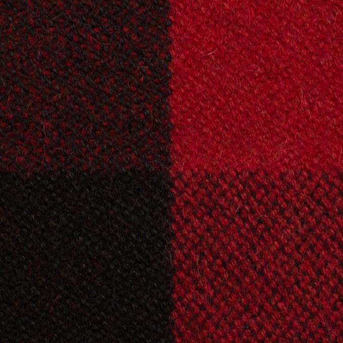 ウール&ナイロン×チェック(レッド&ブラック)×ツイード イメージ1