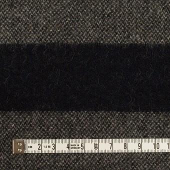 ウール&ポリエステル混×ボーダー(チャコール&ダークネイビー)×ツイード サムネイル4