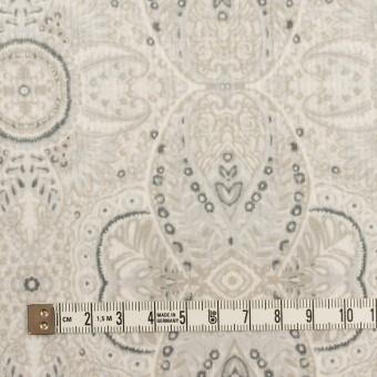 コットン&ポリウレタン×幾何学模様(オイスター)×中細コーデュロイ・ストレッチ_全2色 サムネイル4