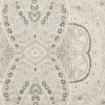 コットン&ポリウレタン×幾何学模様(オイスター)×中細コーデュロイ・ストレッチ_全2色