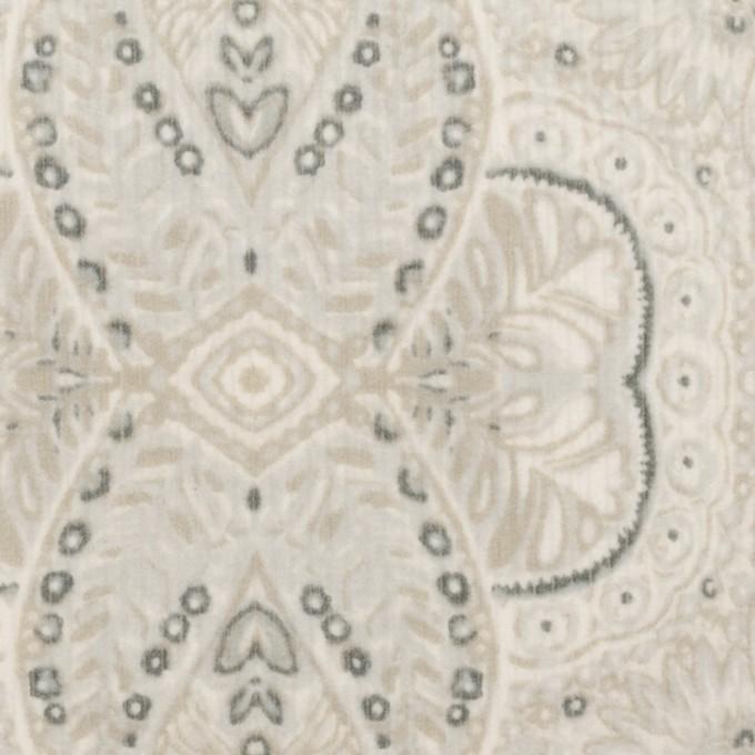 コットン&ポリウレタン×幾何学模様(オイスター)×中細コーデュロイ・ストレッチ_全2色 イメージ1