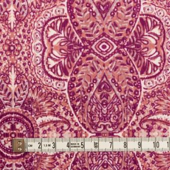 コットン&ポリウレタン×幾何学模様(チェリーピンク)×中細コーデュロイ・ストレッチ_全2色 サムネイル4
