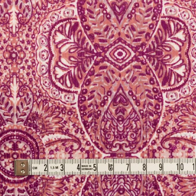 コットン&ポリウレタン×幾何学模様(チェリーピンク)×中細コーデュロイ・ストレッチ_全2色 イメージ4