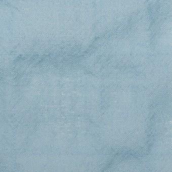 ウール&ナイロン混×無地(サックス)×ガーゼシャーリング サムネイル1