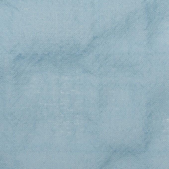 ウール&ナイロン混×無地(サックス)×ガーゼシャーリング イメージ1