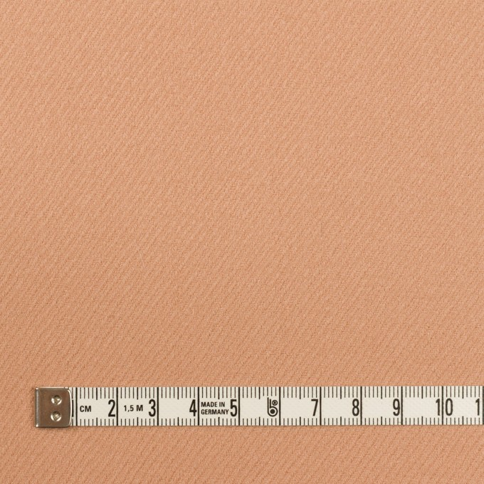 ウール×無地(アプリコット)×サキソニー イメージ4