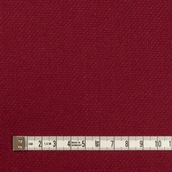 ウール×無地(バーガンディーレッド)×斜子織 サムネイル4