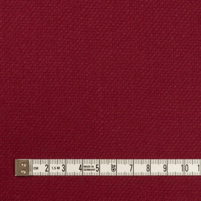 ウール×無地(バーガンディーレッド)×斜子織 イメージ4