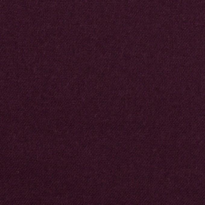 ウール&ポリウレタン×無地(プラムパープル)×サージストレッチ イメージ1