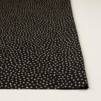ポリエステル×水玉(ブラック&ベージュ)×サテン サムネイル3