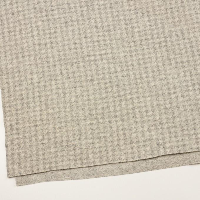 ウール&ナイロン×千鳥格子(エクリュ&グレー)×ジャガードニット_全2色 イメージ2