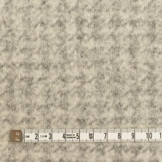 ウール&ナイロン×千鳥格子(エクリュ&グレー)×ジャガードニット_全2色 イメージ4