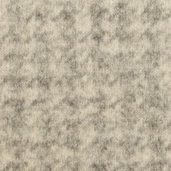 ウール&ナイロン×千鳥格子(エクリュ&グレー)×ジャガードニット_全2色