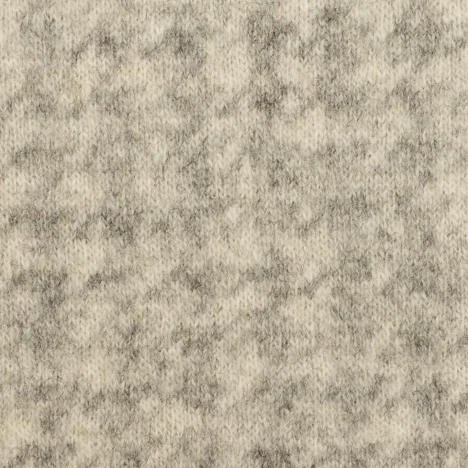 ウール&ナイロン×千鳥格子(エクリュ&グレー)×ジャガードニット_全2色 イメージ1