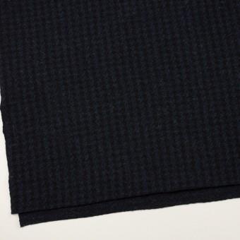 ウール&ナイロン×千鳥格子(ネイビー&ブラック)×ジャガードニット_全2色 サムネイル2