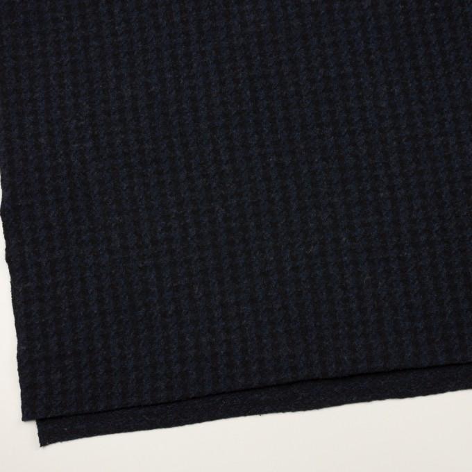 ウール&ナイロン×千鳥格子(ネイビー&ブラック)×ジャガードニット_全2色 イメージ2