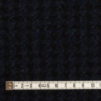 ウール&ナイロン×千鳥格子(ネイビー&ブラック)×ジャガードニット_全2色 サムネイル4