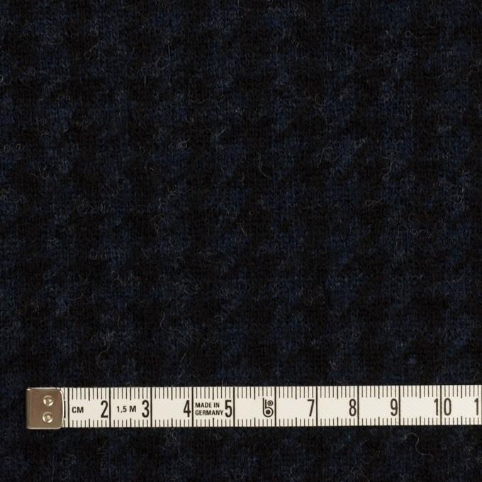ウール&ナイロン×千鳥格子(ネイビー&ブラック)×ジャガードニット_全2色 イメージ4