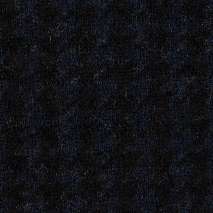 ウール&ナイロン×千鳥格子(ネイビー&ブラック)×ジャガードニット_全2色 イメージ1
